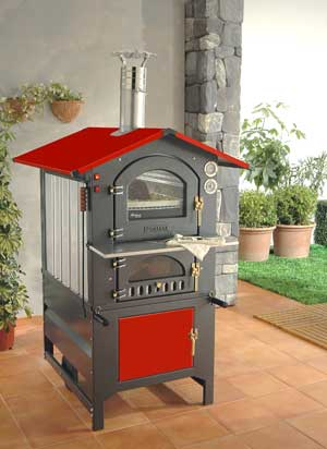 Wood Fired Pizza Ovens :: Fontana Forni Rosso 57RV (Red) Wood Fired ...