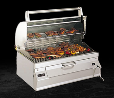 smokers fire magic charcoal built in grill w smoker. Black Bedroom Furniture Sets. Home Design Ideas