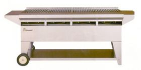 Lazy Man Stainless Steel Elite 8 Burner Gas Grill - A4CC-SSE