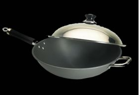 Fire Magic 15'' Anodized Wok with Stainless Steel Cover - 3572