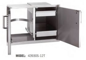 Fire Magic Premium Dbl Doors, Trash Tray, Dual Drawers - Out 43930S-12