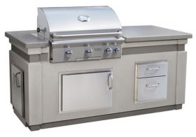 "American Outdoor Grill 30"" L-Series Gas Grill Island Bundle - IP30LB-CGD-75SM"