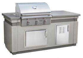 """American Outdoor Grill 30"""" T-Series Gas Grill Island Bundle - IP30TO-CGT-75SM"""