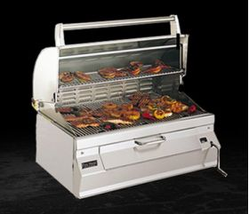 Fire Magic Charcoal Built-In Grill w/ Smoker Oven/Hood 12-SC01C-A