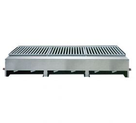 Lazy Man Open Hearth Model ''A'' Series Counter Top 6 Burner Gas Grill