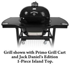 Primo Jack Daniel's Edition Oval XL 400 Charcoal Grill/Smoker - Model 900