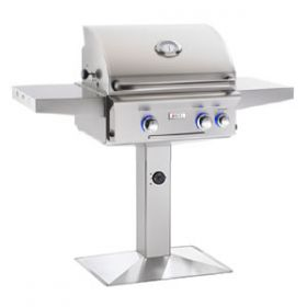 American Outdoor Grill 24'' Patio Pedestal Post Post Gas Grill - L Series