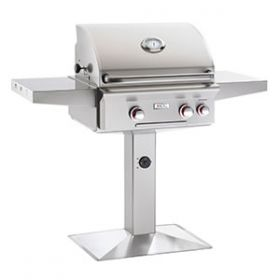 """American Outdoor Grill 24"""" Patio Pedestal Post Gas Grill - T Series"""
