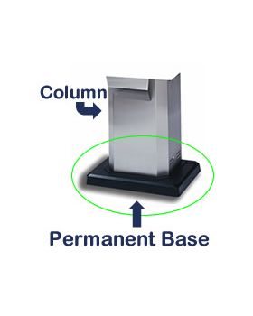 Base (for MHP Column Mount) - Permanent - LP