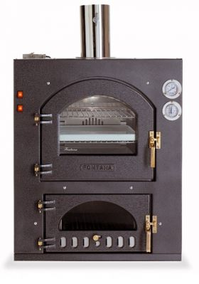 Fontana Forni Inc Q 100QV Wood Fired Pizza Oven - Built-In - INC100QV