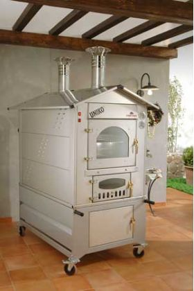 Fontana Forni Uniko (Stainless) Wood Fired Pizza Oven - UNIKOEST